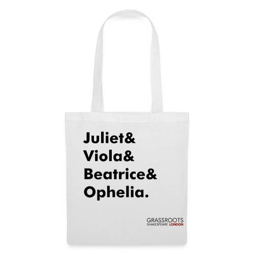 Grassroots Shakespeare London 100% cotton tote bag - Leading Ladies - Tote Bag
