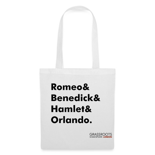 Grassroots Shakespeare London 100% cotton tote bag - Leading Men - Tote Bag