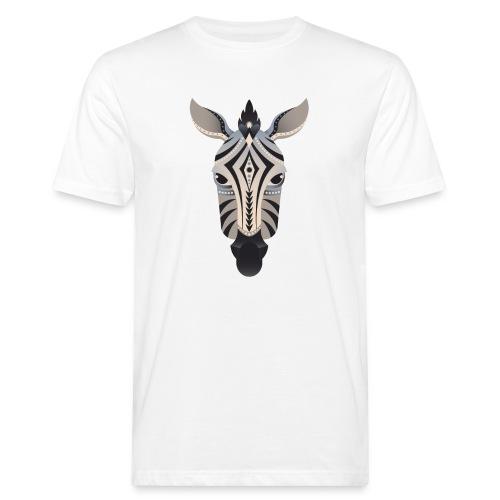 Shirt Zebra abstrakt - Männer Bio-T-Shirt