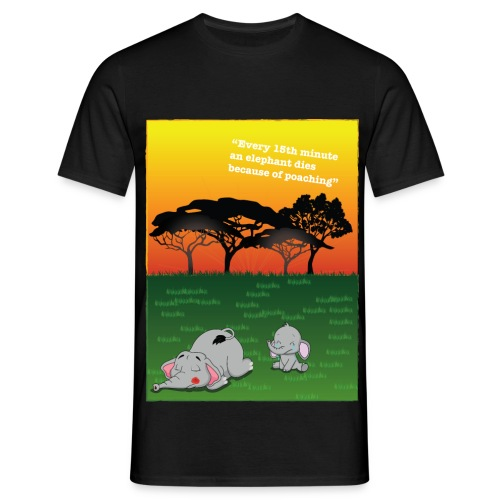 Save The Elephants - Lisa Falke Frey - T-shirt herr