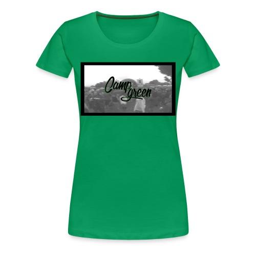 CampGreen Skyline Limited Edition Green-Women (BIO) - Frauen Premium T-Shirt