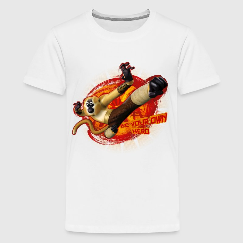 Kung Fu Panda Monkey Hero Teenager T-Shirt - Teenager Premium T-Shirt