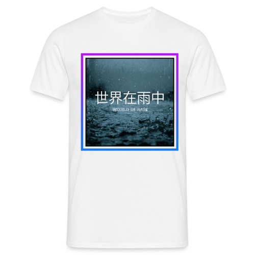 WORLD IN RAIN - Männer T-Shirt