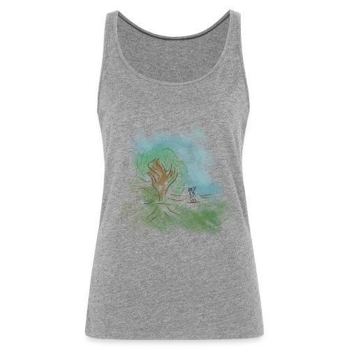 Camiseta zentype color gris - Camiseta de tirantes premium mujer