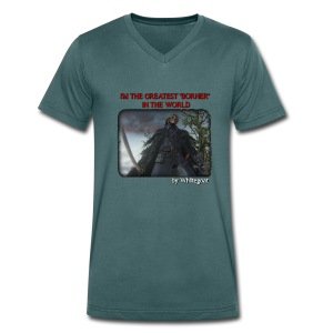 BLOODBORNE - THE GREATEST BORNER IN THE WORLD - T-shirt ecologica da uomo con scollo a V di Stanley & Stella