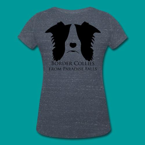 Shirt Frauen V Ausschnitt Logo schwarz - Frauen Bio-T-Shirt mit V-Ausschnitt von Stanley & Stella