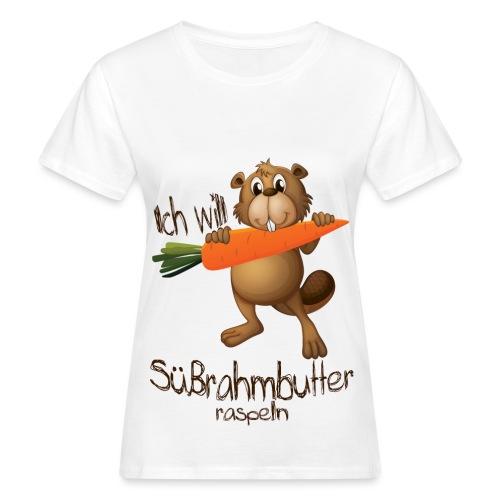 Süßrahmbutter raspeln - Frauen Bio-T-Shirt