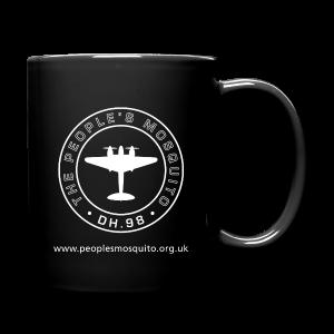 Mission Patch  Leftie Ceramic Mug - Black - Full Colour Mug