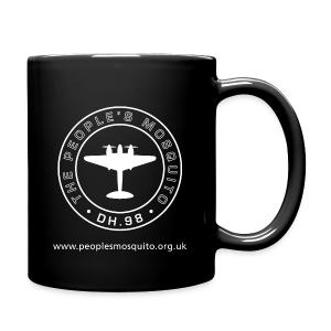 Mission Patch  Leftie Ceramic Mug - Black - Full Colour Mug