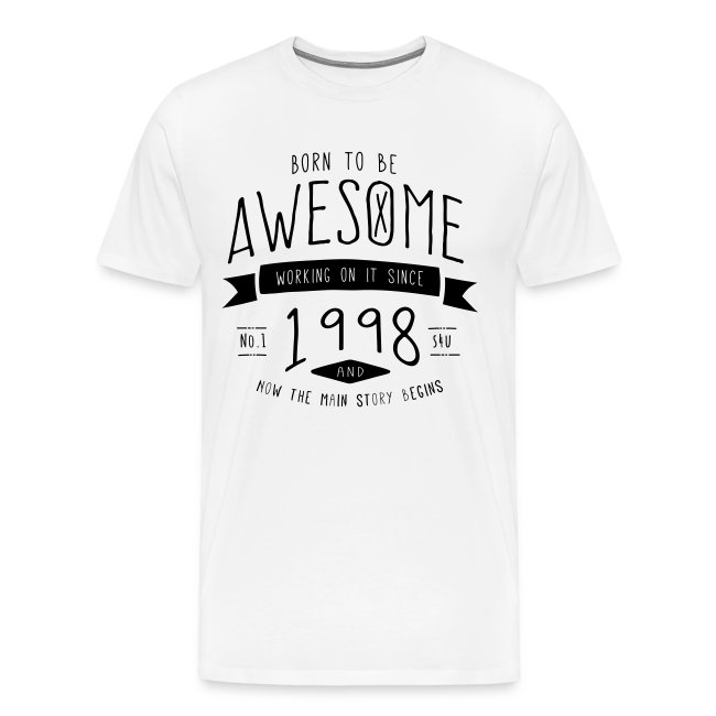 Styles4you 1998 Geburtstag Retro Manner Premium T Shirt