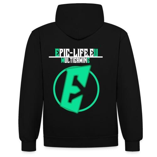 EpicLife Pullover (Multigaming Green) - Kontrast-Hoodie