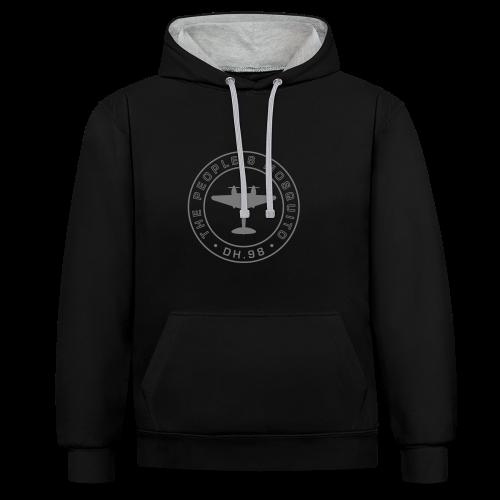 Unisex 2-Tone MP Hoodie - Black/Grey - Contrast Colour Hoodie