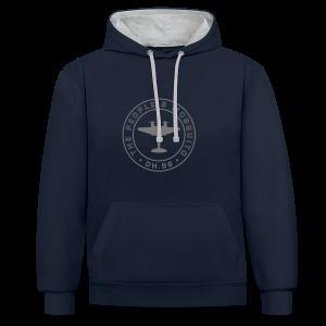 Unisex 2-Tone MP Hoodie - Navy/Grey - Contrast Colour Hoodie