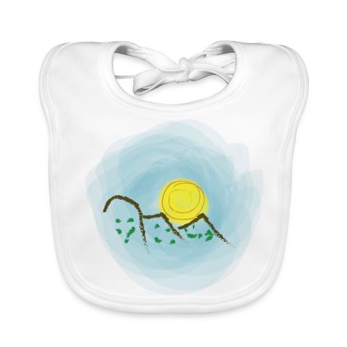 Babero dibujo montañas - Babero ecológico bebé