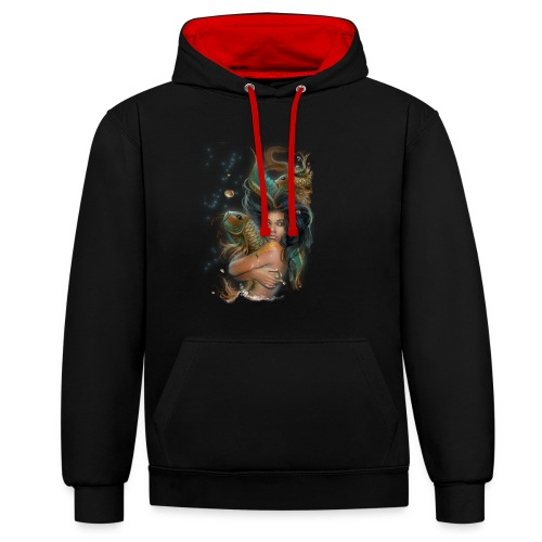 SunQueen Goddess Hoodie - Contrast Colour Hoodie