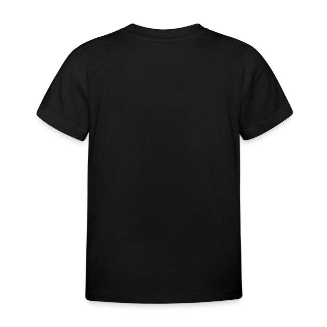 Kinder-Shirt mit dem Motto, Folien-Text silber/weiß