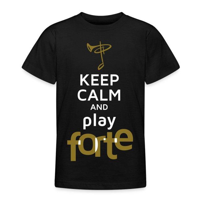 Teenager-Shirt, Folienschrift weiß/gold