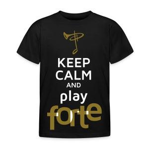 Kinder-Shirt, Folien-Text gold/weiß - Kinder T-Shirt
