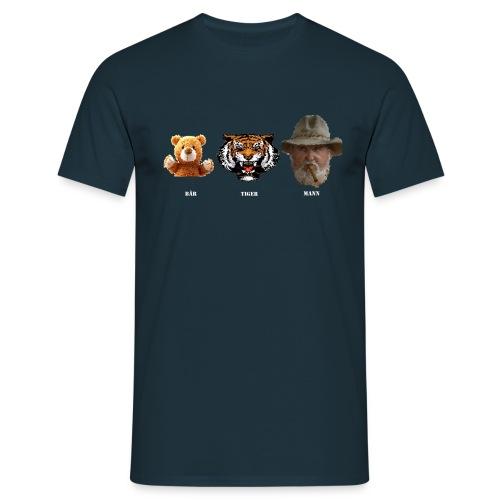 Bär Tiger Mann - Männer T-Shirt
