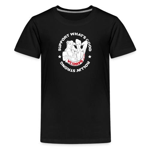 Regular Kids Black Rollin' Strong - Teenage Premium T-Shirt