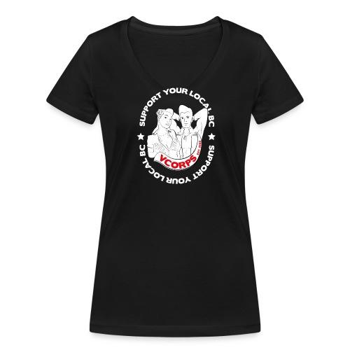 V-Neck Black Local BC - Women's Organic V-Neck T-Shirt by Stanley & Stella