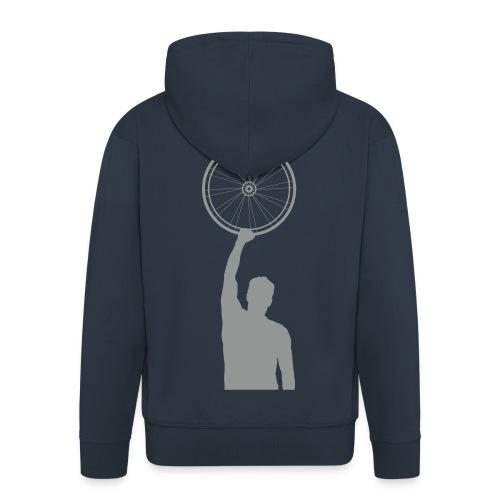 hoodie cycling wheel grey - Mannenjack Premium met capuchon