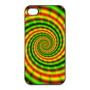 Double Spiral in Green and Orange - iPhone 4/4s Hard Case