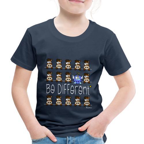 Tee shirt P Enfant, Licorne Bleu & Poneys, Be Different WT - T-shirt Premium Enfant