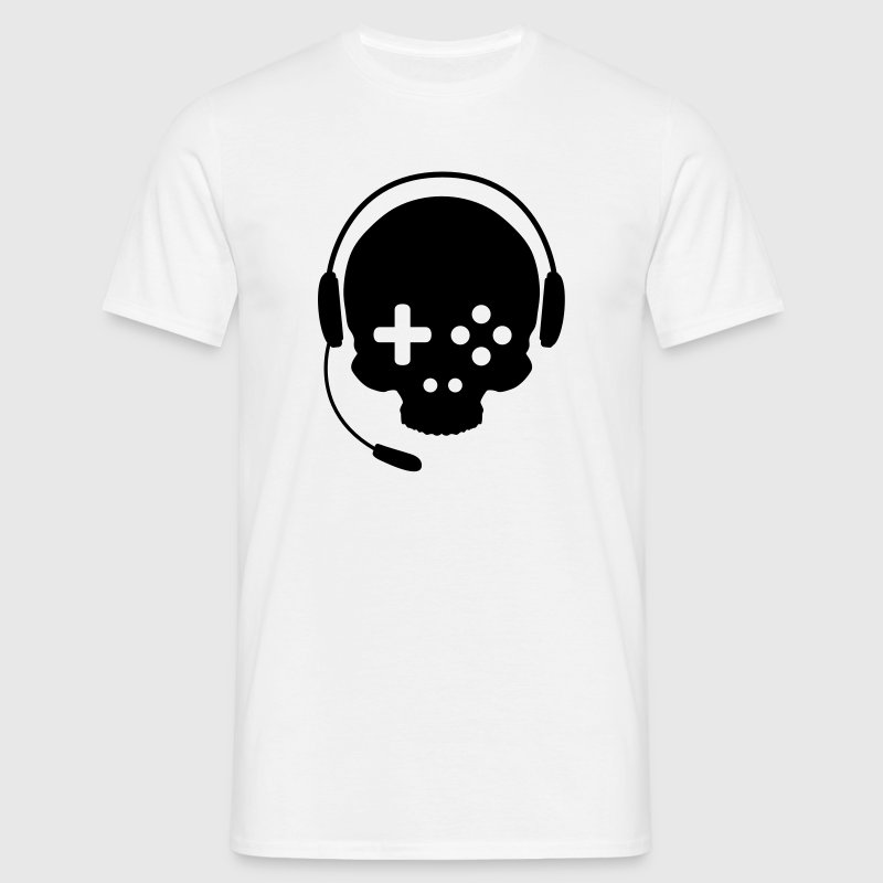 Game Controller Skull with Headset T-Shirts - Men's T-Shirt