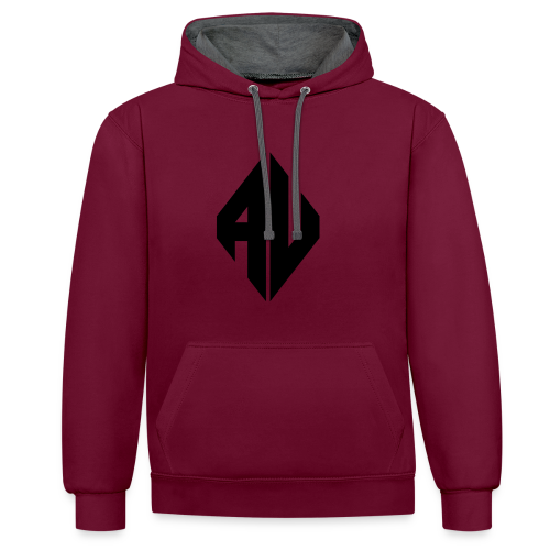 AveR Kontrast-Pullover | Logo schwarz - Kontrast-Hoodie