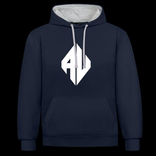 AveR Kontrast-Pullover | Logo weiß - Kontrast-Hoodie