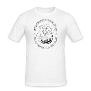 Slim Fit White Local BC - Men's Slim Fit T-Shirt