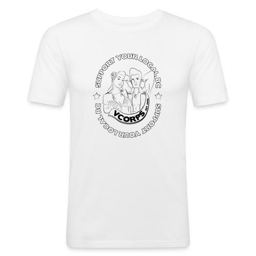 Slim Fit White Local BC - Men's Slim Fit T-Shirt