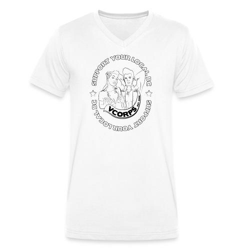 V-Neck White Local BC - Men's Organic V-Neck T-Shirt by Stanley & Stella