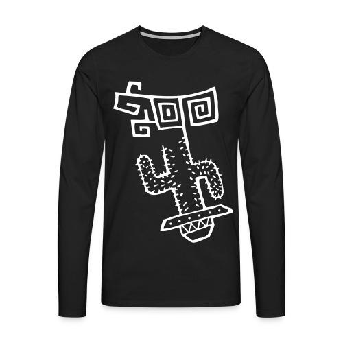 Funky Cactus - Men's Premium Longsleeve Shirt