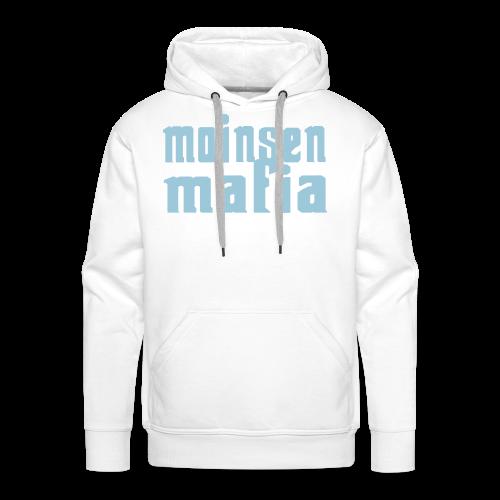 Moinsen Mafia Hoodie weiß/türkis - Männer Premium Hoodie
