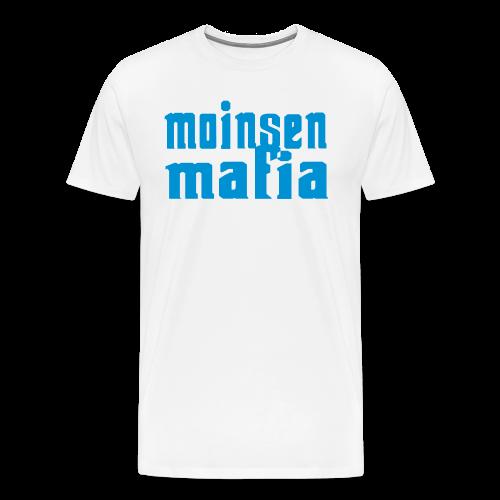 Moinsen Mafia Shirt weiß/türkis - Männer Premium T-Shirt