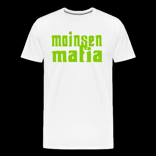 Moinsen Mafia Shirt weiß/grasgrün - Männer Premium T-Shirt
