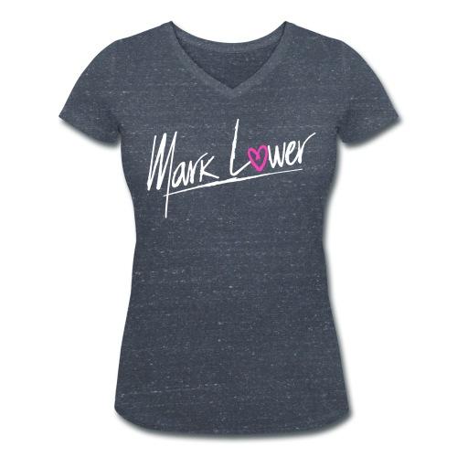 Grey - Logo Women T-Shirt - Women's Organic V-Neck T-Shirt by Stanley & Stella