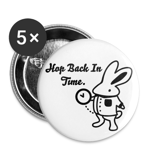 Hop Back In Time Badge (Medium) - Buttons medium 32 mm