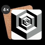 Mugs & Drinkware ~ Coasters (set of 4) ~ CUBES optical illusion