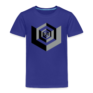 Shirts ~ Kids' Premium T-Shirt ~ CUBES optical illusion
