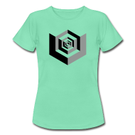 T-Shirts ~ Women's T-Shirt ~ CUBES optical illusion