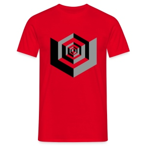 CUBES optical illusion - Mannen T-shirt