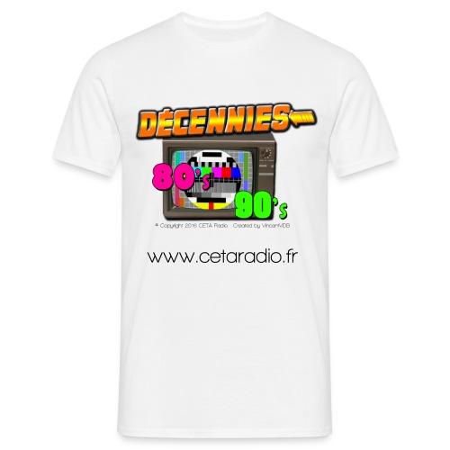 T-Shirt Homme Décennies 80's 90's - T-shirt Homme