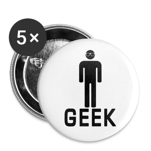 Geek Mens Badge - Buttons medium 32 mm