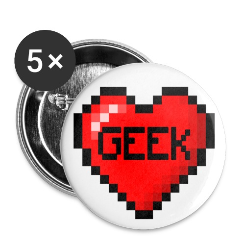 Love Geek Badge - Buttons medium 32 mm