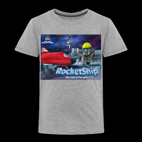 RocketShip T-Shirt - Dark Side Of The Moon- Kids' Premium T-Shirt - Kids' Premium T-Shirt