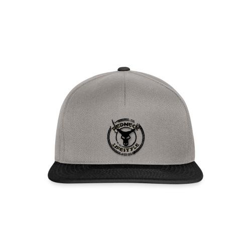 Redneck Lifestyle - Snapback Cap Grau Schwarz - Snapback Cap