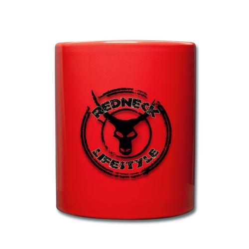 Redneck Lifestyle - Tasse Rot Schwarz - Tasse einfarbig